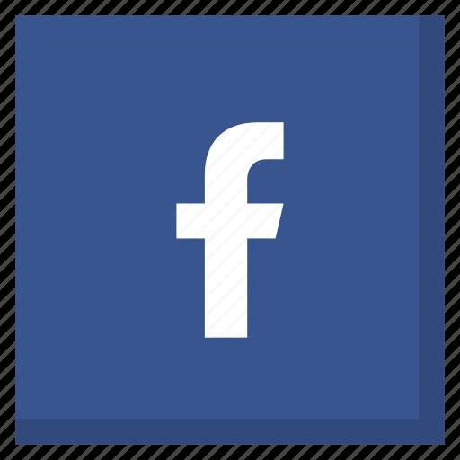 darkblue, facebook, like, media, network, social, square icon