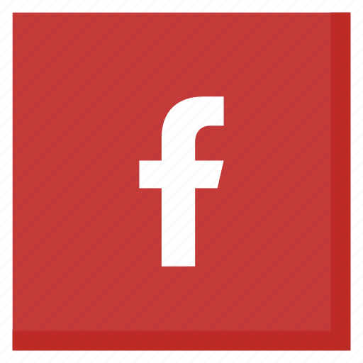 facebook, like, media, network, red, social, square icon