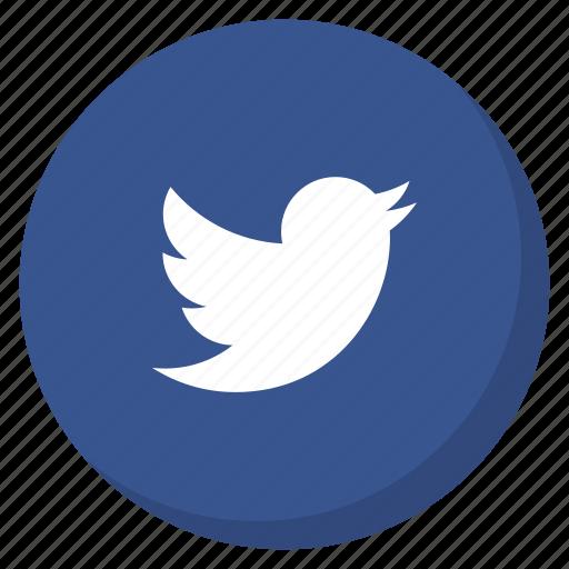 bird, circle, darkblue, media, social, tweet, twitter icon