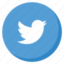 bird, circle, lightblue, media, social, tweet, twitter