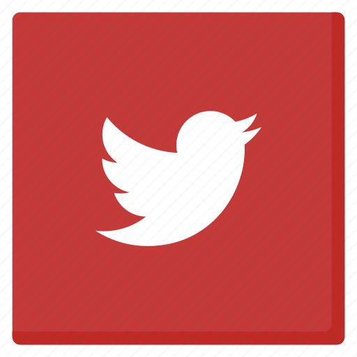 bird, media, red, rounded, social, tweet, twitter icon