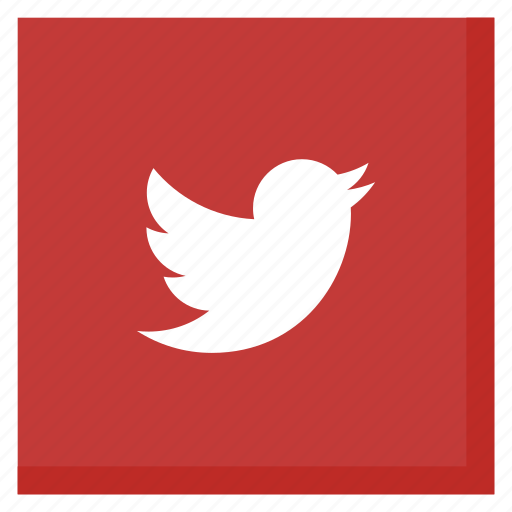 Bird, media, red, social, square, tweet, twitter icon - Download on Iconfinder