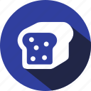 bread, breakfast, eating, food, meal, toast icon