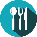 cutlery, dinner, eating, food, fork, kitchen, spoon icon