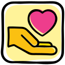 donate, donation, gesture, hand, heart, interaction, love icon