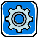 gear, help, options, preferences, settings, social media, support icon