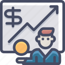 bank, broker, business, finance, marketing, money, statistics icon
