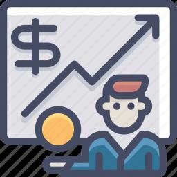 bank, broker, business, finance, marketing, money, statistics icon