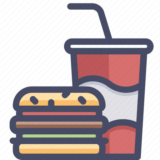 burger, coke, cooking, eat, fastfood, food, gastronomy icon