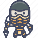 character, fighter, mortalkombat, scorpion icon
