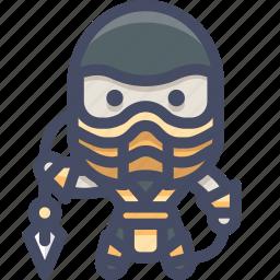 character, fighter, mortalkombat, scorpion icon