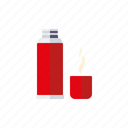 bottle, camping, coffee, equipment, outdoors, thermos icon