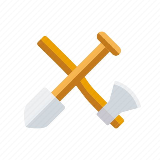 axe, camping, equipment, outdoors, shovel, spdw, tools icon