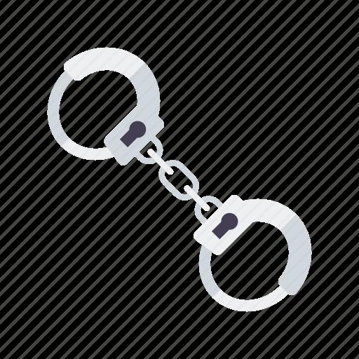 crime, equipment, handcuffs, justice, law, police icon