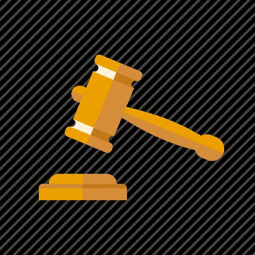 Crime, gavel, hammer, judgment, justice, law icon - Download on Iconfinder