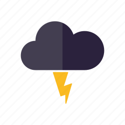 climate, cloud, lightning, meteorology, storm, thunderstorm, weather icon