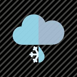 climate, cloud, meteorology, rain, sleet, snow, weather icon