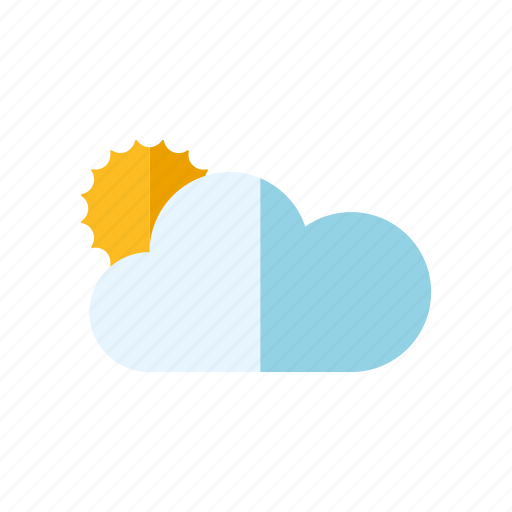climate, cloud, cloudy, meteorology, sun, sunny, weather icon