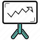 balance, work, presentation, increasing, office icon