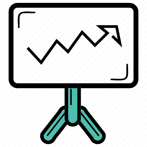 balance, increasing, office, presentation, work icon