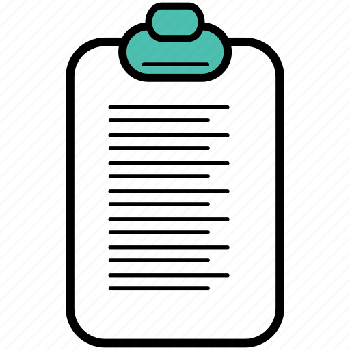 clipboard, office, paper, sheets, work, writing icon