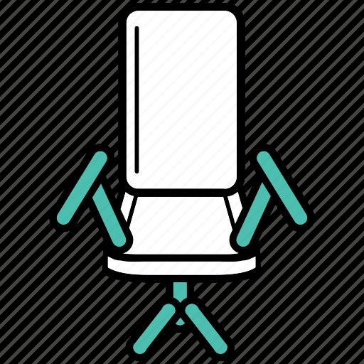 chair, desk, job, office, sitting, work icon