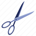cutting, dividing, harsh, scissors, shape icon