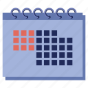 calender, deadlines, office, time, timetable, work icon