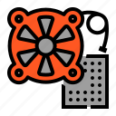 chip, computer, cpu, fan, processor icon