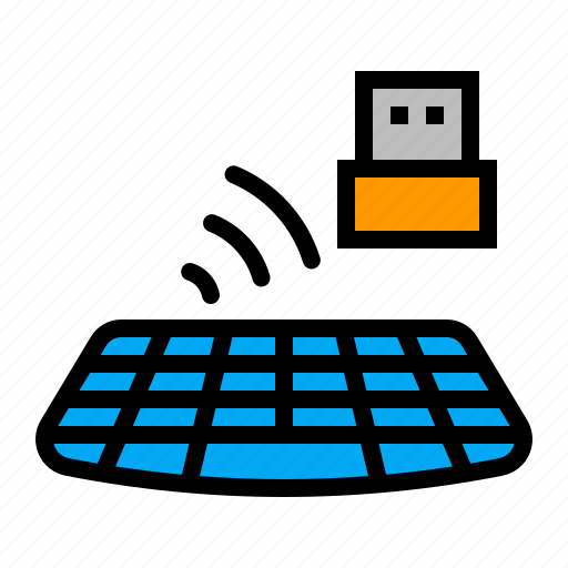 computer, hardware, keyboard, peripheral, wireless icon