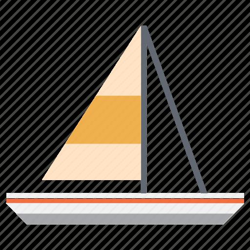 boat, holidays, ocean, sailing, sun, vacation icon