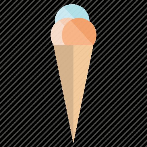 cold, holidays, ice cream, summer, sun, vacation, warm icon