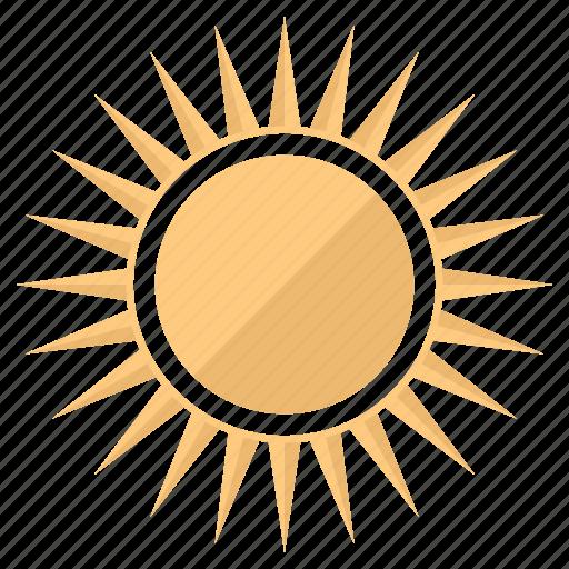holidays, light, shining, summer, sun, vacation, warm icon
