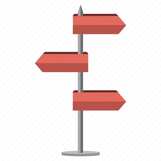 adventure, direction, road, road sign, vacation icon