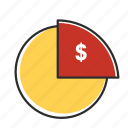 analytics, chart, circle, graph, money, report, statistics icon