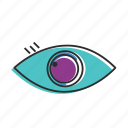 eye, find, glass, human eye, view, watch, zoom icon