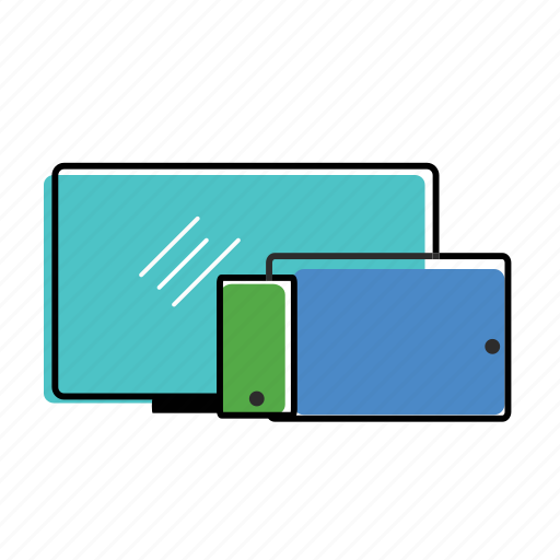 computer, devices, ipad, iphone, laptop, monitor, responsive icon