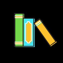 book shelf, books icon