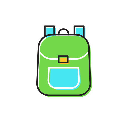 bag, school icon