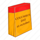 america, calendar, cartoon, columbus, day, discovery, holiday icon