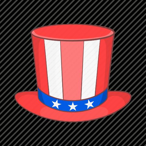 america, american, cartoon, hat, star, top, usa icon