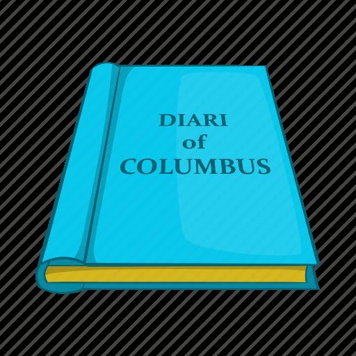 cartoon, columbus, diary, old, page, paper, retro icon