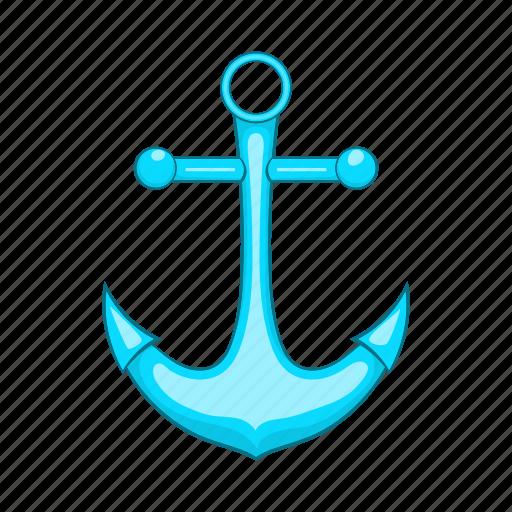 anchor, cartoon, marine, metal, nautical, old, vintage icon