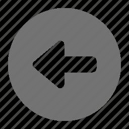 arrow, back, left, navigation, return icon