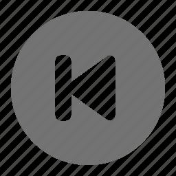 begin, list, media, play, rewind, start icon