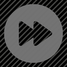 arrow, fast, forward, media, next, play, skip icon