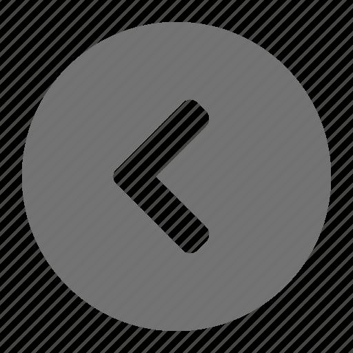 arrow, back, left, navigation, previous icon