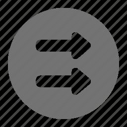 arrow, list, media, order, play, queue, sequence icon