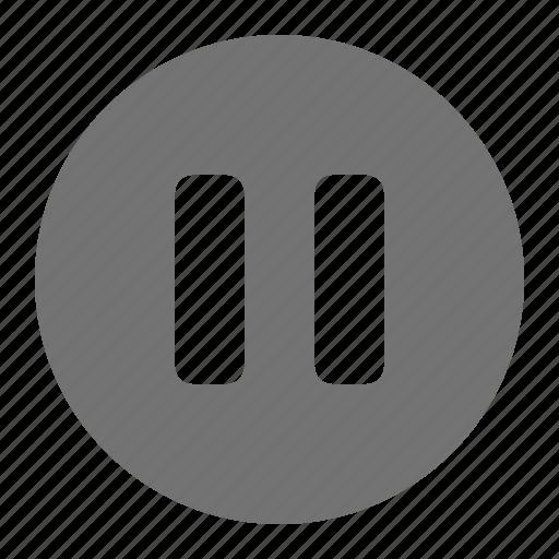 media, multimedia, music, pause, play, video icon