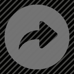 arrow, forward, go, next, redo, undo icon